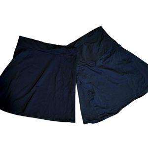 2 Thyme Maternity Midi Black skirts Sz large